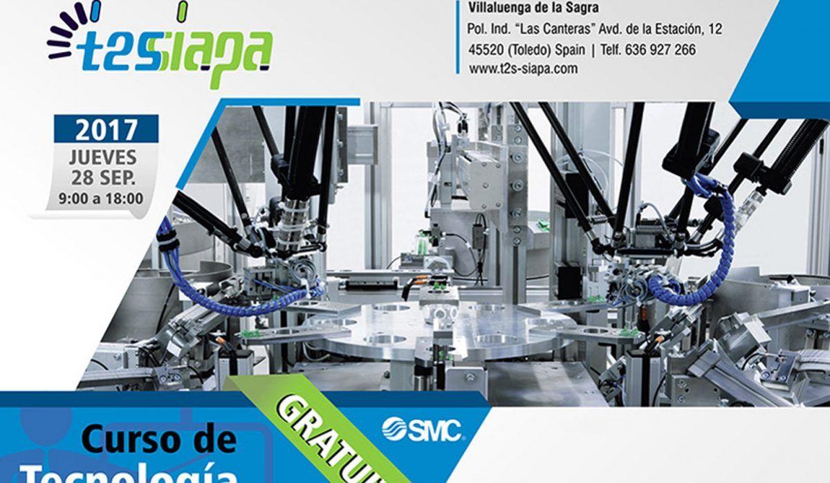 T2S-SIAPA celebro en pasado 28 de Septiembre una nueva jornada formativa gratuita enfocada al refuerzo y conocimiento de la Tecnología Neumática