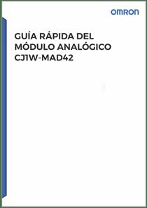 CJ1W MAD42 Guia Rapida - Manuales Omron