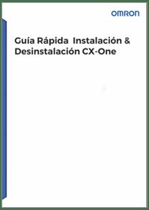 Guia Rapida Instalacion Desinstalacion CX One - Manuales Omron