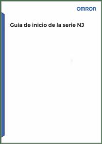 Guia de inicio de la serie NJ - Manuales Omron